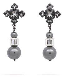 Ellen Conde - Crystal Night Blanche Drop Earrings - Lyst