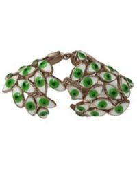 Bernard Delettrez - Articulated Bronze Ring With Green Eyes - Lyst
