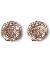 Leivan Kash - Rose Stud Earrings - Lyst