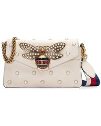 11c4646c6 Gucci Pink Broadway Leather Clutch Bag in Pink - Lyst