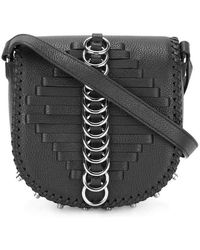 Alexander Wang Black Leather Lia Sling Crossbody Bag