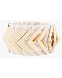 Balmain Greta Small White Napa Leather Bracelet - Multicolour