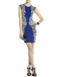 BCBGMAXAZRIA Ellena Jacquard Lace Dress - Blue