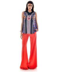 Mary Katrantzou Red Sailor Pants Pants