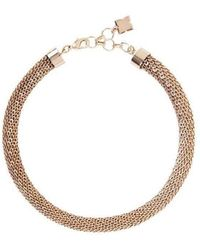 BCBGMAXAZRIA - Rose Gold Looped Chain Necklace - Lyst
