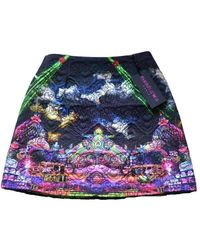 Manish Arora Cloud Print Quilted Cotton Mini Skirt - Multicolour