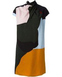Nina Ricci Wrap Neck Dress - Multicolour