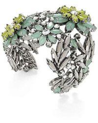 BCBGMAXAZRIA - Floral Stone Cuff Bracelet - Lyst