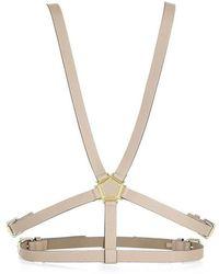 BCBGMAXAZRIA - Bcbg Maxazria Pentagon Hardware Harness Beige Waist Belt - Lyst