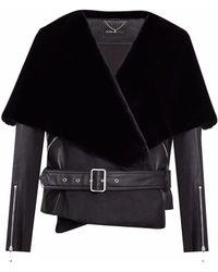 8265f9aca0 Sass   Bide · BCBGMAXAZRIA - Jade Leather Capelet Jacket - Lyst