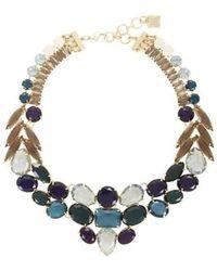 BCBGMAXAZRIA - Bcbg Maxazria Multi Color Stone Statement Necklace - Lyst