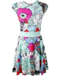 Mary Katrantzou Poppies' Print Mint Dress - Multicolor