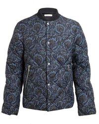 Dries Van Noten - Runway Blue Paisley Quilted Jacket - Lyst