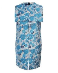 Christopher Kane - Runway Marte Blue Silk Brocade Ghost Organza Dress - Lyst