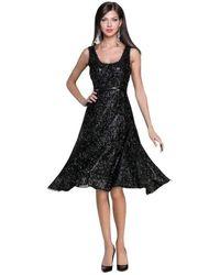 Tracy Reese Black Fringe Runway Dress