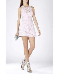 BCBGMAXAZRIA - Hanah Sleeveless Asymmetrical Hem Dress Lcc62b05-527 - Lyst
