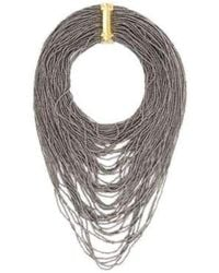 BCBGMAXAZRIA Hematit Seed Bead Necklace - Multicolour