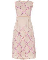 BCBGMAXAZRIA Bcbg Maxazria Pink Arden Floral Embroidered Dress