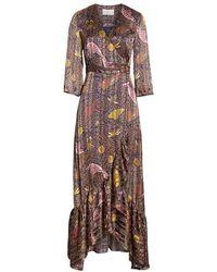 Ba&sh Disy Pleated Maxi Dress - Brown