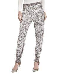 BCBGMAXAZRIA Alder Relief Jacquard Lace Silk Blend Sweat Pant - Natural