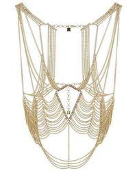 BCBGMAXAZRIA Gold Tone Body Chain - Metallic