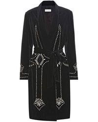Dries Van Noten Bacchus Scarf Detail Black Wool Jacket
