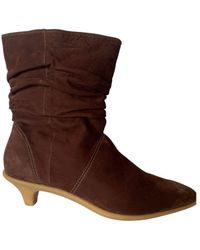BCBGMAXAZRIA Brown Comfortable Leather Boots