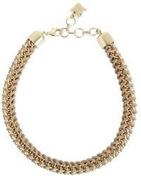 BCBGMAXAZRIA - Bcbg Maxazria Woven Box Chain Necklace - Lyst