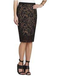 BCBGMAXAZRIA Irisa Embroidered Pencil Skirt - Black