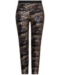 BCBGMAXAZRIA Camo Sequin-embellished Leggings - Black