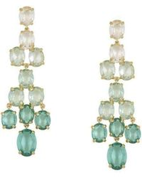 BCBGMAXAZRIA - Bcbg Maxazria Tear Drop Green Ombre Earrings - Lyst