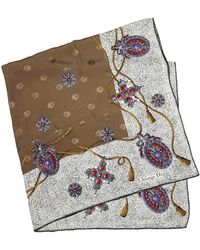 Dior With Multi Silk Fabric Printed France Small Scarf/wrap - Brown