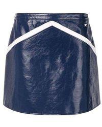 Courreges Blue Rangers Vinyl Mini Skirt