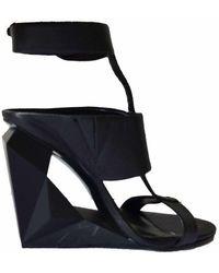 BCBGMAXAZRIA Noella Cutout Wedge Sandal - Black
