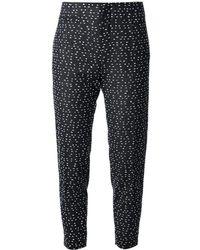 Chloé - Blue Pattern Trousers - Lyst