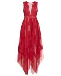BCBGMAXAZRIA Andi Lace Dress - Red