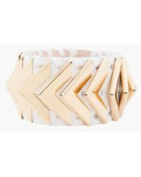 Balmain - Greta Small White Napa Leather Bracelet - Lyst