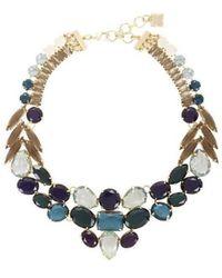 BCBGMAXAZRIA Multi Colour Stone Statement Necklace - Blue