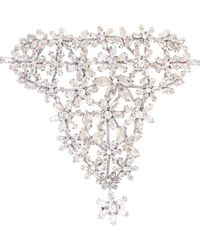 BCBGMAXAZRIA | Bcbg Maxazria Floral Stone Hand Chain Bracelet | Lyst