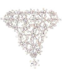 BCBGMAXAZRIA Floral Stone Hand Chain Bracelet - Multicolor