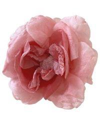 Gucci Pink Silk Flower Brooch
