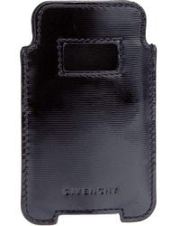 Givenchy Black Textured Leather Phone Or Credit Card Case