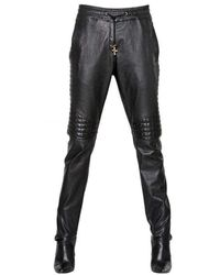 Balmain Runway Leather Trouser Trousers - Black