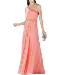 BCBGMAXAZRIA Daniele Coral One Shoulder Embellished Gown - Pink