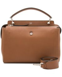 Fendi Brown Leather Pre-owned Dotcom Italy W/ Pouch, Dust Bag