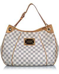 Louis Vuitton Galliera Handbag Damier Pm Canvas Satchel - White