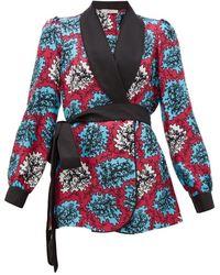 Mary Katrantzou Darcy Coral Print Silk Jacket - Multicolor