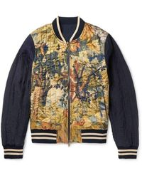 Dries Van Noten Reversible Shell And Printed Satin Bomber Jacket - Multicolor
