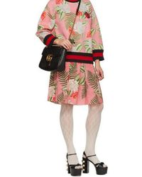 Gucci Pink Floral Pleated Mini Skirt