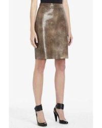 BCBGMAXAZRIA Leather Iguana Embossed Skirt Irr3c783 - Brown